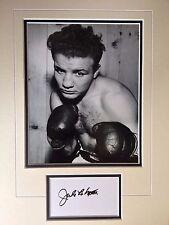 Jake la motta-american boxing legend-beautiful signed b/with photo frame