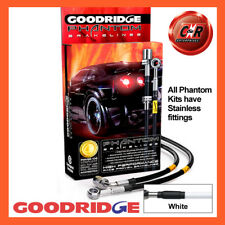 Hyundai Coupe V6 2.7 02- Stainless White Goodridge Brake Hoses SHY0600-4C-WT