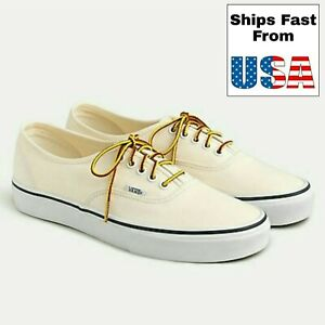 Vans for J.CREW Washed Canvas Authentic Sneakers White 721356 Men 9.5 Women 11