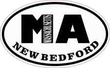4x2.5 Oval MA New Bedford Massachusetts Sticker Car Truck Vehicle Bumper Decal