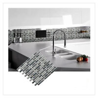 Mosaic Self Adhesive Wall Tile Sticker Vinyl Bathroom Kitchen Home Decor K