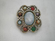 Agate Ring Vintage Costume Jewellery (Unknown Period)