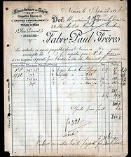 """NIMES (30) USINE de TAPIS & ETOFFES pour MEUBLES """"Paul FABRE Freres"""" en 1895"""