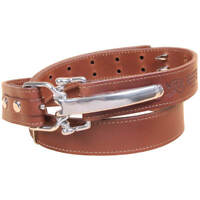Leather Mens Belt Adjustable No. 5 Cinch Buckle USA Unique Design