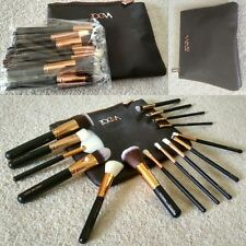 15 Pcs Sale Complete Zoeva Make Up Brush Set Bag Brushes Rose Golden UK SELLER