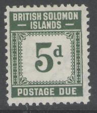 BRITISH SOLOMON IS. SGD5 1940 5d GREY-GREEN MTD MINT