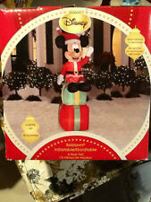 GEMMY DISNEY 6 FT MICKEY MOUSE SANTA SUIT PRESENTS LIGHTED AIRBLOWN INFLATABL