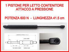 PISTONE A GAS MOLLA DI RICAMBIO PER LETTO CONTENITORE-600 N-ATTACCO A PRESSIONE