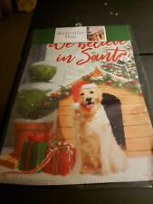 Nicole Garden Flag 12 x 18 Dog We Believe in Santa Winter New Double Sided