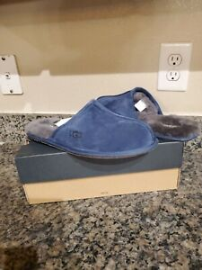 UGG Scuff Mens Size 9 Slippers Navy Suede 1005605 New $90