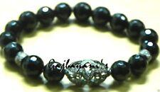 & Black Onyx Beaded Bracelet Rose Cut Diamond Pave Bead
