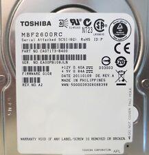 "Lot of 4 Toshiba 600GB,Internal,10000 RPM,2.5"" SAS (MBF2600RC) Hard Drives"