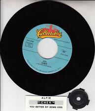 "CHER  Alfie & You Better Sit Down Kids 7"" 45 record + juke box title strip NEW"