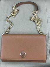 Tory Burch ROBINSON Saffiano Chain Crossbody Wallet/Clutch- Retail $295-NWT