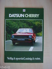 Datsun Cherry 1000,1200,1400 (Serie N10: 3/5 deurs, Coupe, Van)  Prospekt, NL