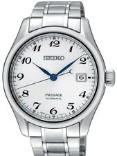 Seiko JAPAN Made Presage Karesansui White Men's Stainless Steel Watch SPB063J1