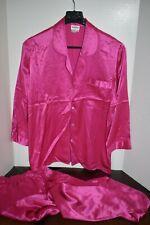 Neiman Marcus Hot Pink Pajamas Set 100% Silk Small S