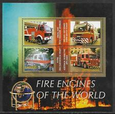 SIERRA LEONE 2005 FIRE ENGINES Sheetlet of 4v No 2 MNH