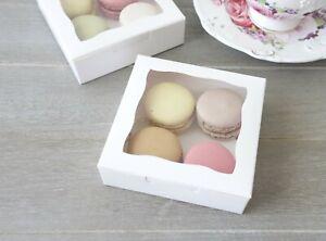 Cookies/Macaron Display Boxes 10cm Wedding Favour Baby Shower Cake Gift Box