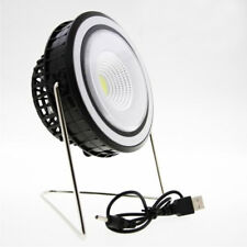 Lampada faro luce LED solare+USB campeggio camping mini VENTILATORE integrato