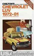 CHILTON REPAIR & TUNE UP GUIDE FOR CHEVROLET LUV 1972-1981