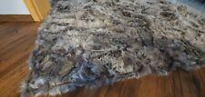 Bed Cover Sofa throw Blanket TOSCANA Wool Shearling Sheepskin Rug 160/ 200
