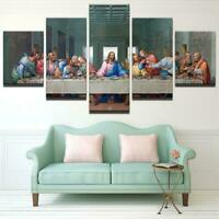 Christ Jesus Painting Great God Poster Wall Art Home Decor 5 pieces Canvas Print