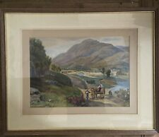 More details for antique original victorian watercolour painting landscape countryside framed