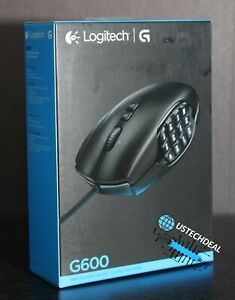 Logitech G600 MMO Wired Gaming Mouse - Black @NEW@