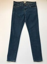 "Womens Junior's Forever 21 Blue Denim Skinny Ankle Jeans Sz 27 Stretch 30"" Waist"