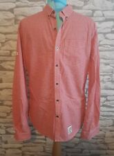 SUPERDRY Mens Red Check Premium Oxford Button Down Shirt Size Medium