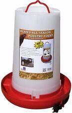 Farm Innovators HPF-100 Heated Plastic Poultry Fountain, 3 Gallon, 100-Watt