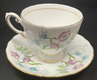 TUSCAN Fine English Bone China D2021 FOOTED TEACUP & SAUCER MADE IN ENGLAND 968