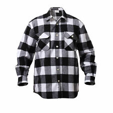 Rothco 4739 Men's Brawny Buffalo Plaid Long Sleeve Flannel Shirt Heavyweight