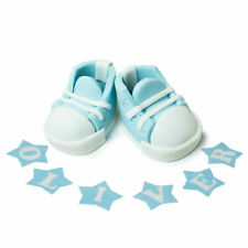 christening boy boots cake toppers baby edible personalised birthday decoration