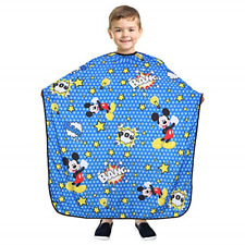 BARBER PRO Barber Cape for Kids, Hair Cutting Cape with Snap Closure, Salon Cape