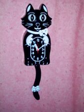 Vintage Kelly The Cat ~Kit Kat type Wall Clock with Pendulum Tail ~NEW IN BOX!