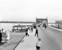 Photograph Vintage Detroit Michigan  Belle Isle Bridge  Year 1910  8x10