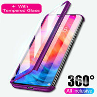 For Xiaomi Mi 10T Lite Poco X3 NFC M3 A3 9T 360° Full Case Cover +Tempered Glass
