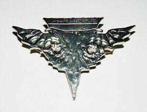 Star Trek Romulan Large Uniform Chest Insignia Silver Toned Metal Pin NEW UNUSED