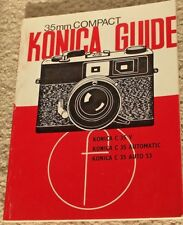 Vintage Focal Camera Guide 35Mm Compact Konica Guide Manual