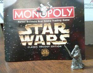 Obi-Wan Kenobi Pewter Game Token Monopoly Star Wars Classic Trilogy Edition 1997