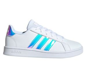 Scarpe da donna Adidas GRAND COURT K FW1274 sneakers casual sportive bianco