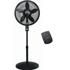 Fan Pedestal 18 with Remote Control Lasko Oscillating Cyclone Stand Quiet Black