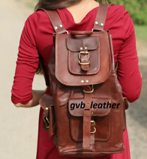 New Day Out Genuine Soft Leather Back Pack Rucksack Travel Bag Men's and Women's
