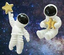 ASTRONAUT STAR betsey johnson GOLD TShirt EARRINGS astronauta cosmonauta aros