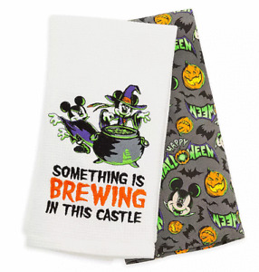 Disney Parks Mickey and Minnie Mouse Halloween Kitchen Towel Set