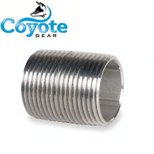 "3/4"" NPT X Close 304 Stainless Steel Pipe Nipple Coyote Gear SS STD Thread"