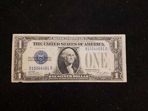 "1928A $1 Silver Certificate ""FUNNYBACK"" Nice Circulated Note - B/B Block!"