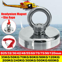 Neodymium Fishing Salvage Recovery Magnet For Detecting Metal Treasure + Rope